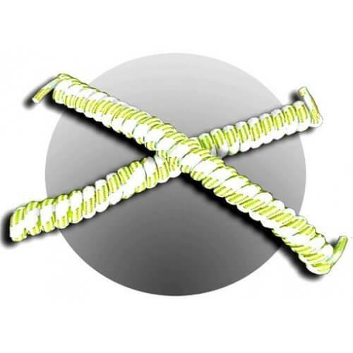 Lacets ressorts élastiques blanc et lime fluo