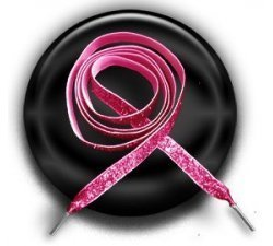 Lacets velours rose paillettes