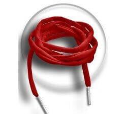 Lacets élastiques spaghetti rouges lycra