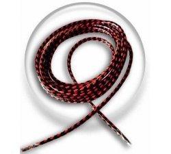 Lacets cirés bicolores noir rouge