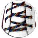 lacets ronds noirs multicolores