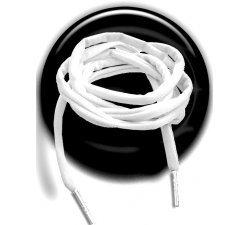 Lacets ronds blancs spaghetti lycra élastique