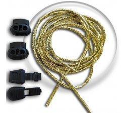 Lacets élastiques autobloquants dorés