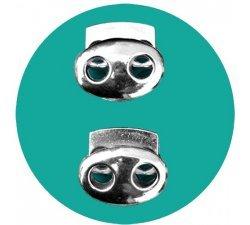 Bloqueurs-stoppeurs métal argenté