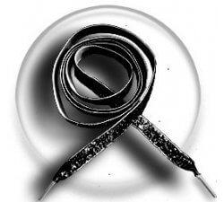 Lacets velours paillettes noir