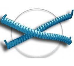 Lacets ressorts élastiques en bleu lagon
