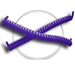 Lacets ressorts élastiques en violet