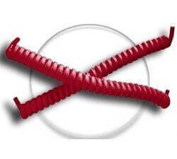 Lacets ressorts élastiques en rouge