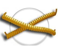 Lacets ressorts élastiques en jaune