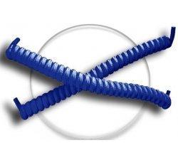 Lacets ressorts élastiques en bleu marine