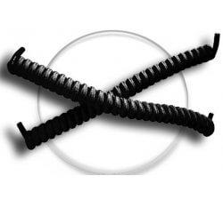 Lacets ressorts élastiques en noir