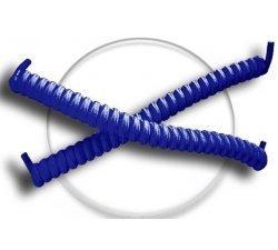 Lacets ressorts élastiques bleus électriques