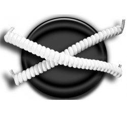 Lacets ressorts élastiques blanc