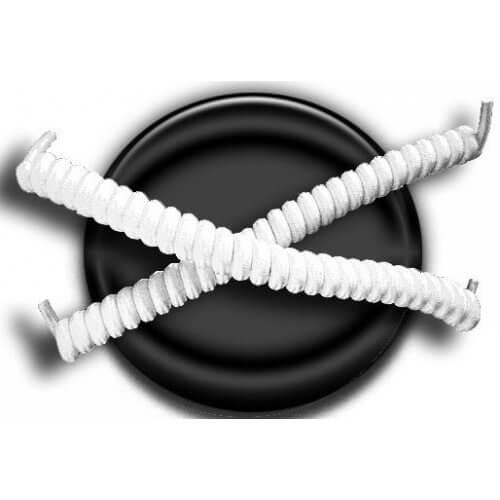 Lacets ressorts élastiques en blanc