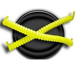Lacets ressorts élastiques jaune fluo