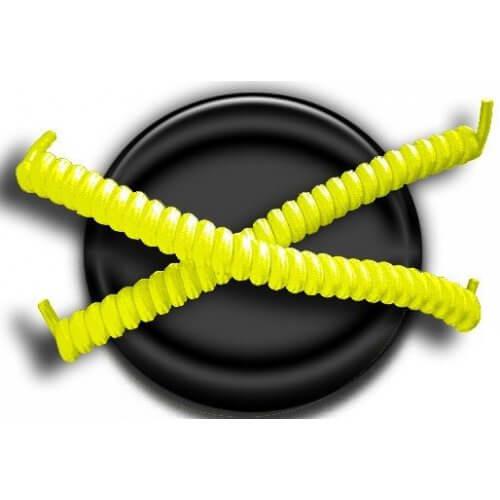 Lacets ressorts élastiques en jaune fluo