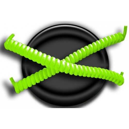 Lacets ressorts élastiques en vert fluo