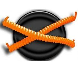 Lacets ressorts élastiques orange fluo