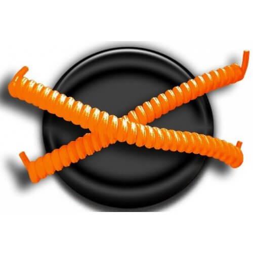 Lacets ressorts élastiques en orange fluo