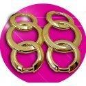 Set 2 décorations de lacets chaine dorée