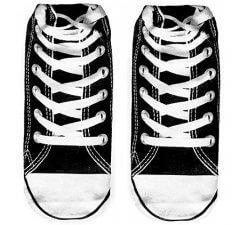 Socquettes baskets noires 3D