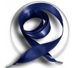 Lacets XL ruban satin bleu marine
