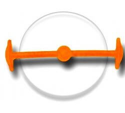 Lacet silicone élastique orange fluo