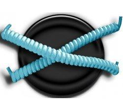 Lacets ressorts élastiques en turquoise