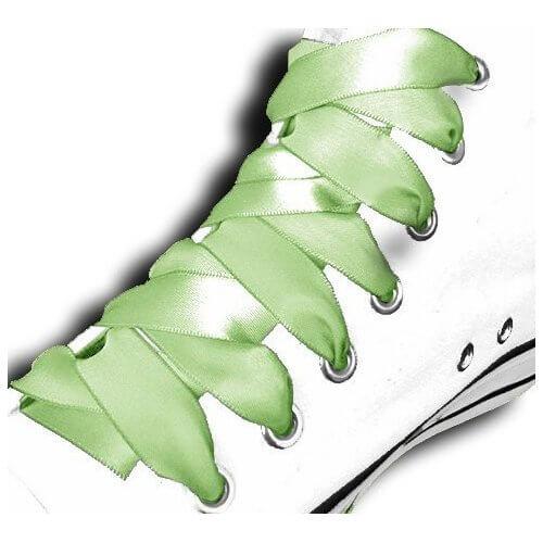 Lacets satin vert printemps