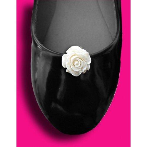 Set 2 décorations de chaussures roses blanches