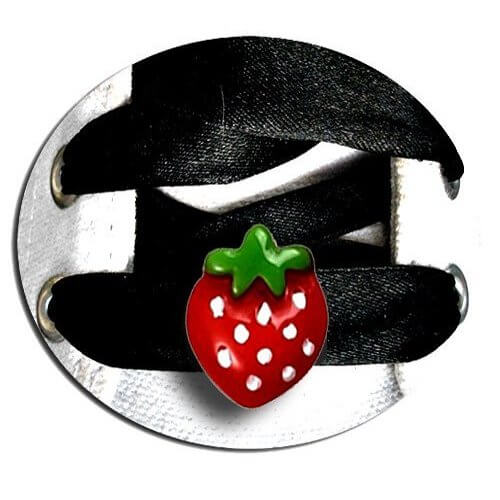 Set 2 décorations de lacets fraises
