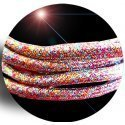 Lacets ronds paillettes multicolores