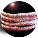 Lacets ronds paillettes multicolores