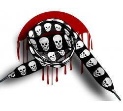 Lacets noirs têtes de morts