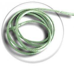 Lacets fins cirés vert tilleul
