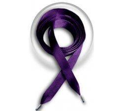 Lacets en ruban fin violet indigo
