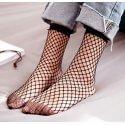 chaussettes grande mailles résille noires