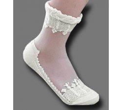 chaussettes transparentes ivoires