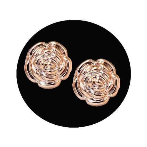 Set 2 décorations de lacets roses or rose
