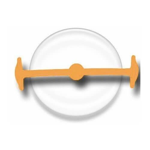 Lacet silicone sans clip orange fluo