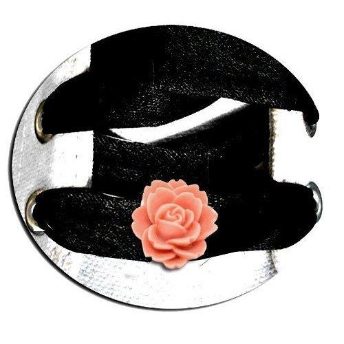Set 2 décorations de lacets roses rose thé