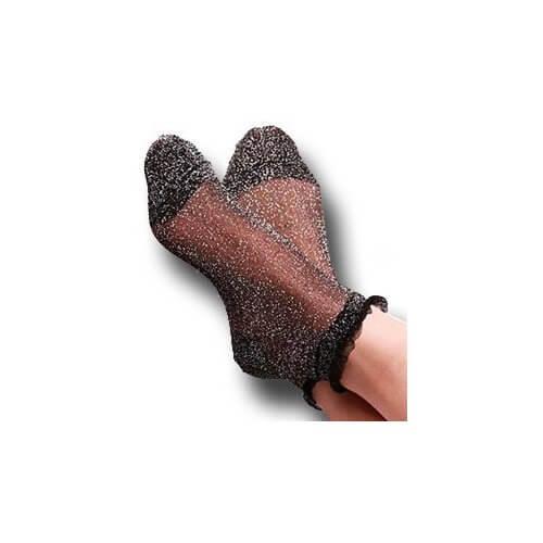 chaussettes noires paillettes argent