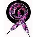 Lacets noirs fleurs violettes