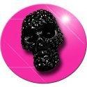 Set 2 décorations de lacets crâne noirs facettes