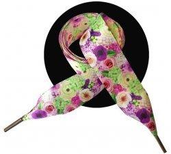 Lacets XL ruban satin jardin de roses