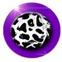 Set 2 décorations de lacets léopard argenté