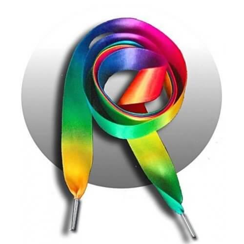 Lacets en satin multicolore tie & dye