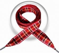 Lacets larges écossais rouge café