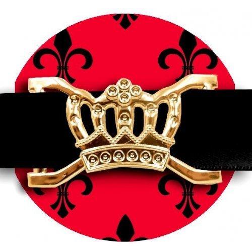 Set 2 décorations de lacets couronnes dorées