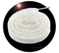 Lacets paillettes blancs